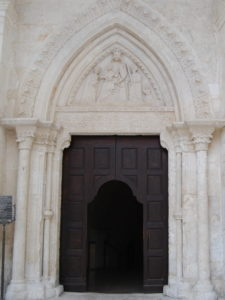 Monte Sant'Angelo - entrance to Santuario San Michele